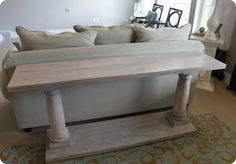 Wood Columns Console Table