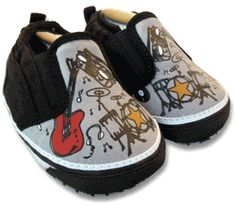Me in Mind Wanna Rock Baby Shoes- Boy-boys,rocker,shoes, me in minf,slip ons, baby, gift