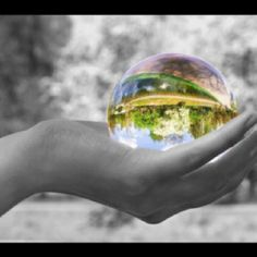 The world in your hands. We see everything through our own perspective.