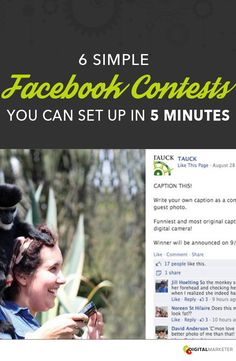 6 Simple Facebook Contests that you can set up in 5 Minutes! | digitalmarketer.com
