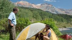 10 Amazing Colorado Campsites Tent camping at Trout Lake near Telluride, Colorado