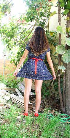 Blue Dress.Vintage Dress.Dresses.Women's by shpirulina on Etsy