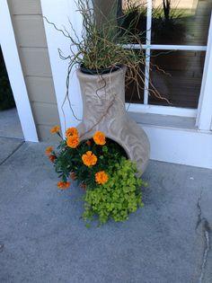 This years chimnea planter