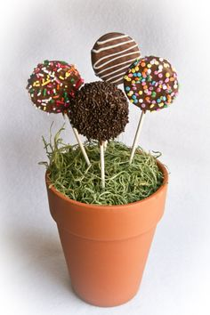 12 Chocolate Covered Oreo Cookie Pops by mammamonkey on Etsy
