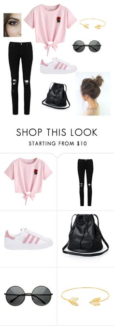 """""""Untitled #23"""" by horvathingrid231 on Polyvore featuring WithChic, Boohoo, adidas Originals and Lord & Taylor"""