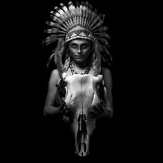 The Female Shaman by Tommy Høyland - Photo 113151825 - 500px. #shaman #scull #model #portrait #free #freespirit #wild #indie #indian #headband #featherheaddress #feather #headdress #americanindian #nativeamerican #warpaint #tribalmakeup #amazonwarrior #face #girl #beauty #woman #beautiful #amazing #blackandwhite #augsburg #munich #muc #münchen #stuttgart