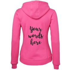 Hoodie with Custom Glitter Text Fabulous glittering hoodies for any occassion! Your custom text in your choice of sparkling glitter across the back of your choice from our range of fleecy an. Glitter Text, Sparkles Glitter, Colorful Hoodies, Brides And Bridesmaids, Hens, Range, Bridal, Sweatshirts, Party