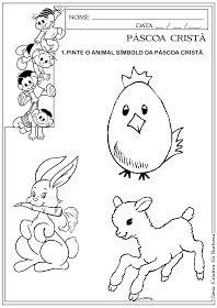 Atividade Animal Simbolo Da Pascoa Crista Com Imagens