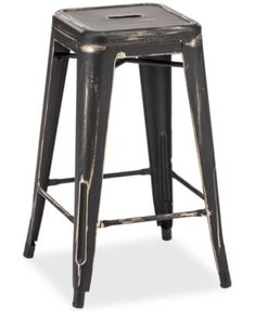 Walker Set of 2 Counter Stools, Direct Ships for just $9.95 $199.00 Strength in simplicity. Make a bold statement & add a new dynamic with these modern steel counter stools, which feature strikingly clean lines, low cutout backs & high seats.