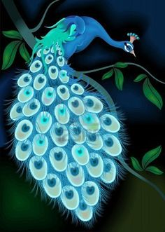 Maybe not a peacock, but glow in the dark wall art would be sick