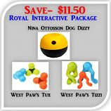 Royal Interactive Dogs Package (Save $11.50): Rolling out another new convenient package great value with three of our very favorite things. Putting your dollars where our hearts are: ForceFree