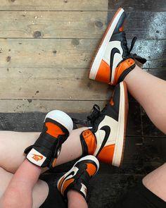 Orange Basketball Shoes Outfit,Jordan Sneakers,Fashion Air Jordan 1 Shoes Air Jordan Sneakers, Sneakers For Sale, Jordans Sneakers, Air Jordans, Orange Basketball Shoes, Jordan 1 Shattered Backboard, Michael Jordan, Sneakers Fashion, Nike Air