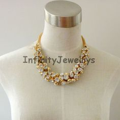 White Jewelry Bubble NecklaceStatement by InfinityJewelrys on Etsy, $35.99