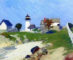 Edward Hopper-Squam Light (1912)