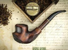 """Fumar pipa """"DALI 2"""". Pipa de madera tallada. Pipas de tabaco. Pipa de madera…"""