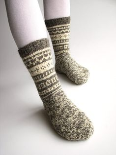 2b00eeb65aa High long cute funny pom poms socks hand knitted Women handmade gifts for  sister Natural woolen warm winter gray ocher boot slipper socks