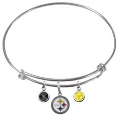 Pittsburgh Steelers Wire Charm Expandable by SportsBodyJewelry