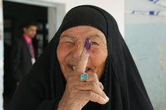 Proud Iraqi Women Vote in Nasiriyah The Long Now, Iraqi Women, Half The Sky, Purple Dye, Right To Vote, Raw Beauty, Women In History, Powerful Women, Afghanistan