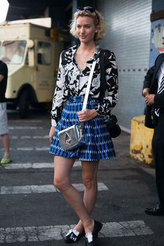 53 street style photos from New York Fashion Week #NYFW #print