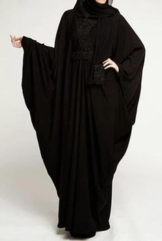 Must check out the new stylish black abaya designs in 2020 for girls. New black abaya designs come in beautiful patterns that will make you look sober. Abaya Designs Dubai, New Abaya Design, Islamic Fashion, Muslim Fashion, Burqa Fashion, Fashion Dresses, Simple Abaya Designs, New Abaya Style, Burqa Designs