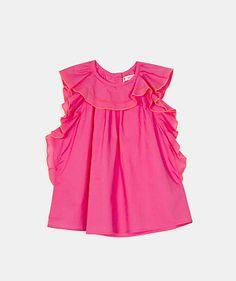 Blusa com bordados em contraste Camisas   Menina  Junior (8-12 anos)  |  Túnicas  Menina  Junior (8-12 anos) | LANIDOR.COM - Shop Online