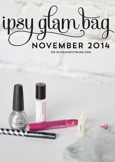 The Ipsy Glam Bag for November 2014 did NOT disappoint! #beauty #ipsy #subscription