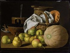 Luis Melendez, Still Life with Melon and Pears