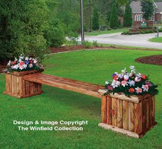 Garden Bench Plans How to build a landscape planter bench. Build inexpensively from landscape timbers. Trace and cut step by step planter bench plans. The post Garden Bench Plans appeared first on Garden Diy. Woodworking Bench Plans, Wood Plans, Woodworking Jobs, Sketchup Woodworking, Woodworking Equipment, Woodworking Techniques, Woodworking Furniture, Custom Woodworking, Wooden Planters