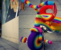 yarn bombed tricycle...