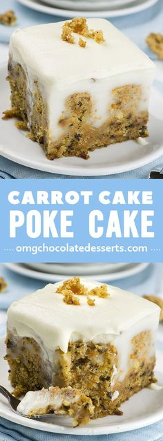 If you are looking for new and fun Easter ideas, this easy dessert recipe for Carrot Cake Poke Cake is the best Easter treat that you can make for your family. It's one of those delicious dessert ideas you'll want to make again and again. Brownie Desserts, Mini Desserts, Chocolate Desserts, Easy Desserts, Delicious Desserts, Chocolate Pudding, Desserts For Easter, Chocolate Carrot Cake, German Desserts