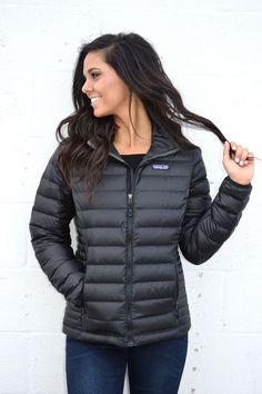 Patagonia Women's Down Sweater Jacket- Black