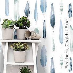 Blaue Tapeten für luftige und weite Räume