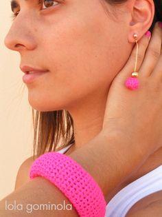 Lola Gominola: Complementos para todas!!! Crochet Earrings, Drop Earrings, Jewelry, Fashion, Bonbon, Crochet Baby, Hipster Stuff, Moda, Jewels