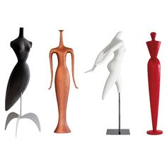 An array of Ralph Pucci's mannequins on display in NYC March 31 to August 2015 Abstract Sculpture, Sculpture Art, Sculptures, Fashion Window Display, Nyc March, Mannequin Art, Resource Furniture, Felt Bows, Black Women Art