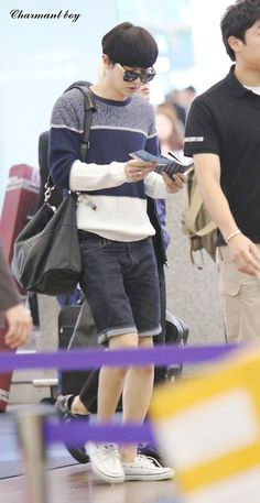 Chanyeol <3  - 140903 Incheon Airport, departing for Changsha