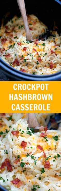 Simple Slow Cooker Hashbrown Casserole. Easy and healthier -- NO cream of soups!