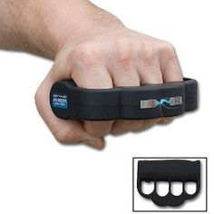 Yes please!!!!!!!!!!!     Land some electrically charged blows to any potential attacker with these brass knuckles tazers. These knuckle enhancing stun guns pack an impressive 950,000 volts of electricity in every single punch, enough to paralyze your attacker even if you punch like a little girl.