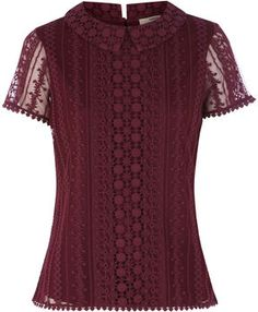 Oasis Collared Lace T-Shirt