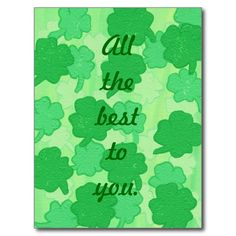 All the best to you, Shamrocks postcards