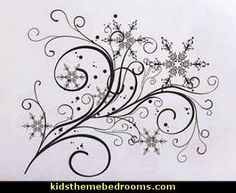Snowflake Flow wall decal - variety of colors and sizes