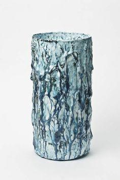 Morten Løbner Espersen . blue cylinder vase, 2012