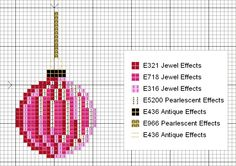 punto de cruz navideño / bola de navidad / xmas cross stitch