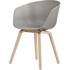 HAY About a Chair 22 Armlehnstuhl Colour, grau Gestell Eiche geseift mit Kunststoffgleitern