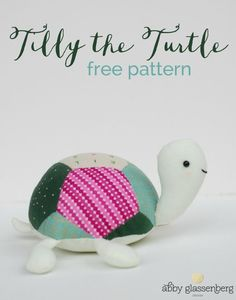 Free English Paper Piecing Pattern: Tilly the Turtle - cute free sewing pattern for a patchwork turtle made with EPP. Would make an adorable pincushion pattern too!