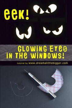 Glowing Spooky Eyes in the Windows Tutorial - Dream a Little Bigger