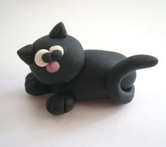 Cute Kitty Cat (Micio Miao) - A Little Polymer Clay Creation