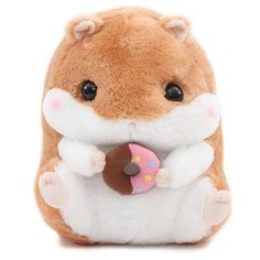 big light brown white hamster Coroham Coron Cafe plush toy Japan toys Amuse plushies give a helping hand Homemade Stuffed Animals, Cute Stuffed Animals, Hamsters, Cute Sloth, Toy Art, Cute Pillows, Cute Toys, Plush Animals, Clay Animals