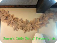 Paper bag flowers @laurieslittlebits