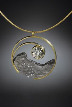 Diamond Yin Yang Pendant by Jacob Albee of Burlington, VT. 2015 NICHE Awards Finalist.