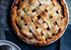 """Pear Pie with Red Wine and Rosemary """"Red wine livens up this delightful pear pie—and it livens up your time in the kitchen, too"""""""